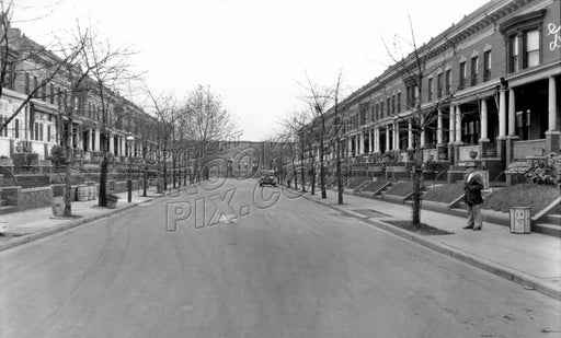 Fuller Place between Prospect Avenue and Windsor Place, 1928 Old Vintage Photos and Images