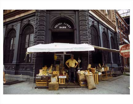 Fulton Ferry Bank Vendor Old Vintage Photos and Images