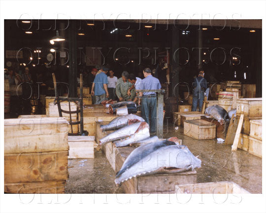 Fulton Fish Market Manhattan, NYC 1964 Old Vintage Photos and Images