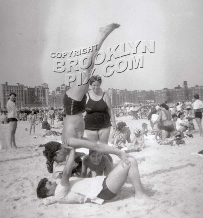 Fun at Brighton Beach, c.1950 Old Vintage Photos and Images