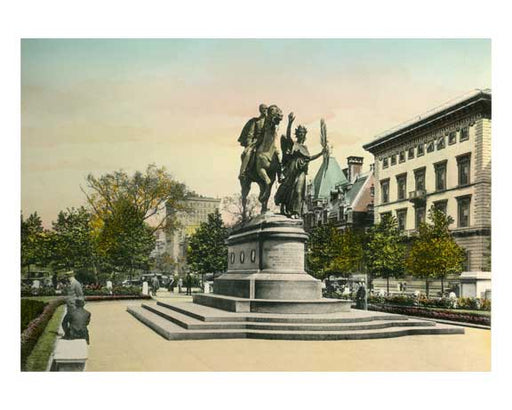 General Sherman Statue - The Plaza - Grand Army Plaza; Fifth Avenue between 59th and 60th Streets Brooklyn, NY Old Vintage Photos and Images