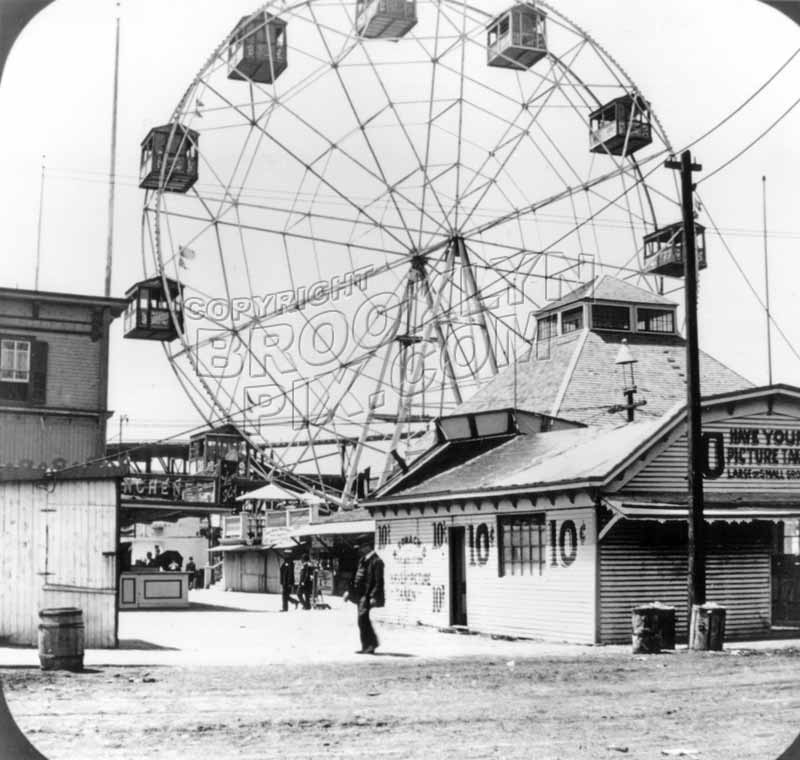 George C. Tilyou's original 1897 Ferris Wheel Old Vintage Photos and Images