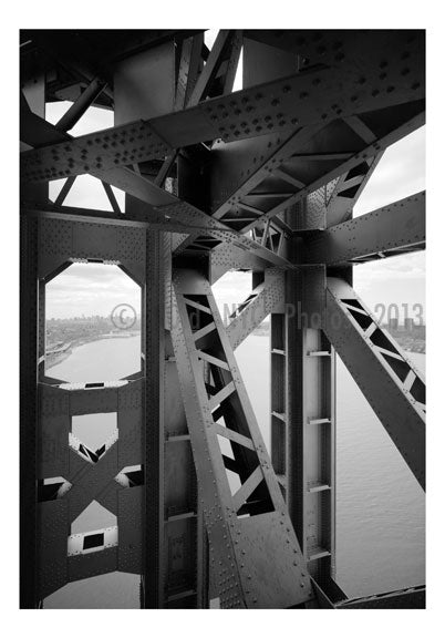 George Washington Bridge - detail showing superstruture Old Vintage Photos and Images