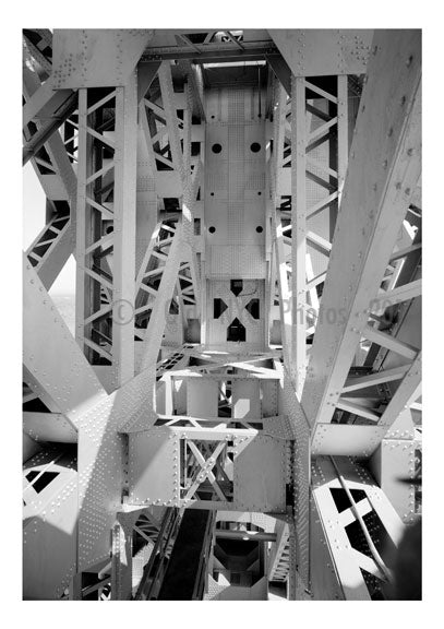 George Washington Bridge - detail showing superstruture steel work A