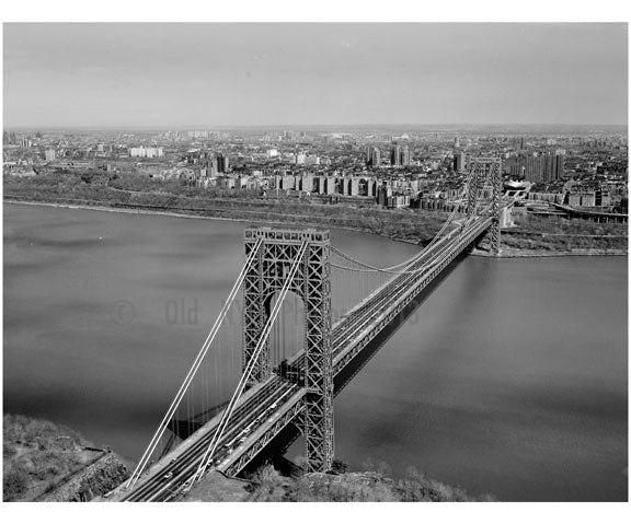 George Washington Bridge -general view looking toward Manhattan Old Vintage Photos and Images