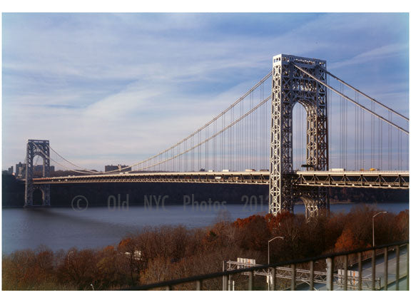 George Washington Bridge - looking northwest from the New York side of the river Old Vintage Photos and Images