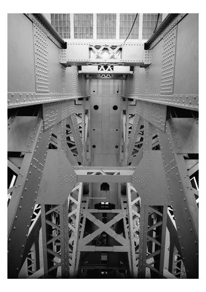 George Washington Bridge -looking throught the superstructure