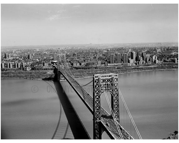George Washington Bridge - looking towards Mnahattan Old Vintage Photos and Images