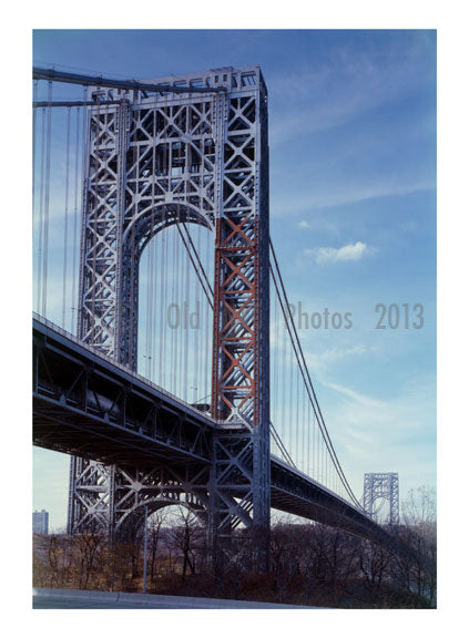 George Washington Bridge - looking west Old Vintage Photos and Images