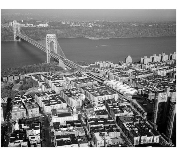 George Washington Bridge -New York approach looking west Old Vintage Photos and Images