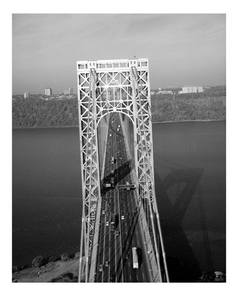 George Washington Bridge - New York Tower looking west down main roadway Old Vintage Photos and Images