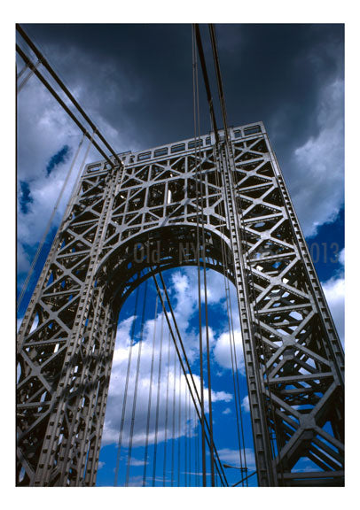 George Washington Bridge - upclose Old Vintage Photos and Images