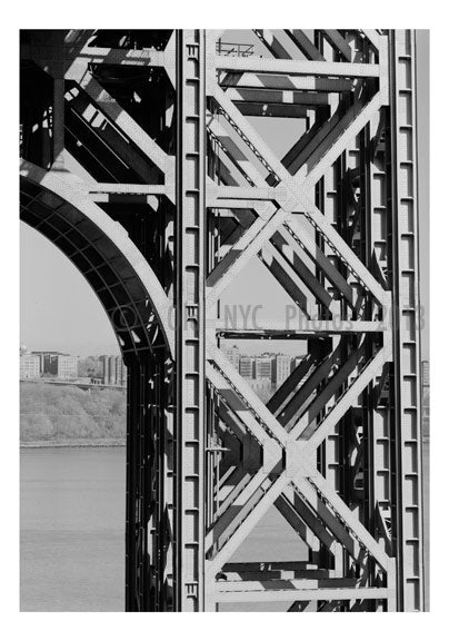 George Washington Bridge - upclose at the New Jersey End Old Vintage Photos and Images