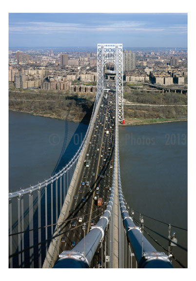 George Washington Bridge - view from top of the New Jersey tower