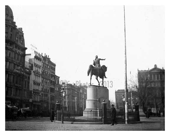 George Washington Statue Union Square 1890 Old Vintage Photos and Images