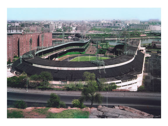 Giant Stadium at 155th Street, Yankee Stadium visible across Harlem River in the Bronx 1960 Old Vintage Photos and Images