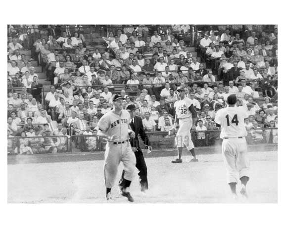 Gil Hodges & Sandy Koufax  at Ebbets Field 1957 Brooklyn NY