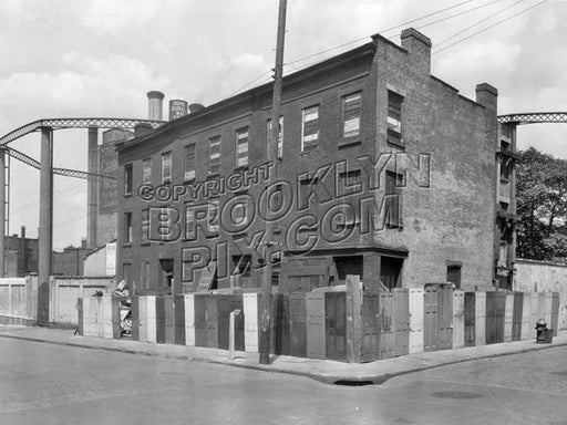 Gold and Water Streets, near Brooklyn Union Gas works, 1931 Old Vintage Photos and Images