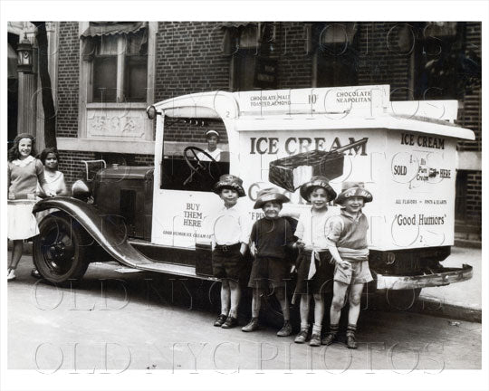 Good Humor Ice Cream Truck with children Old Vintage Photos and Images