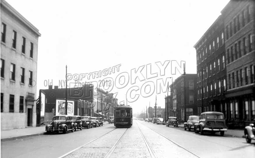 Grand Street east from Bushwick Avenue, 1949 Old Vintage Photos and Images