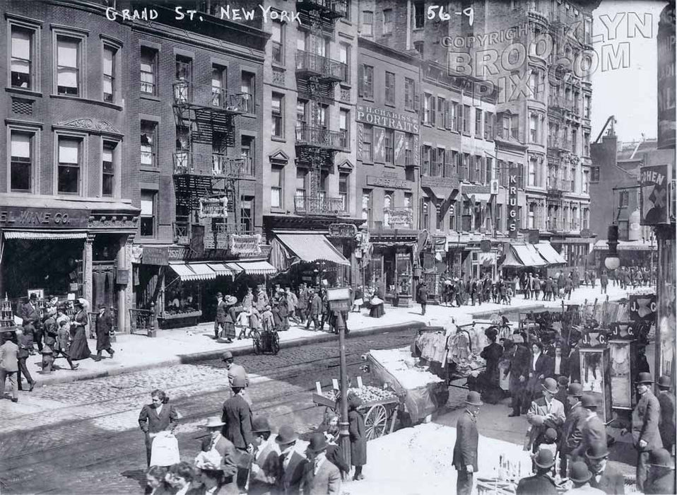 Grand Street east of Essex Street, 1909 Old Vintage Photos and Images