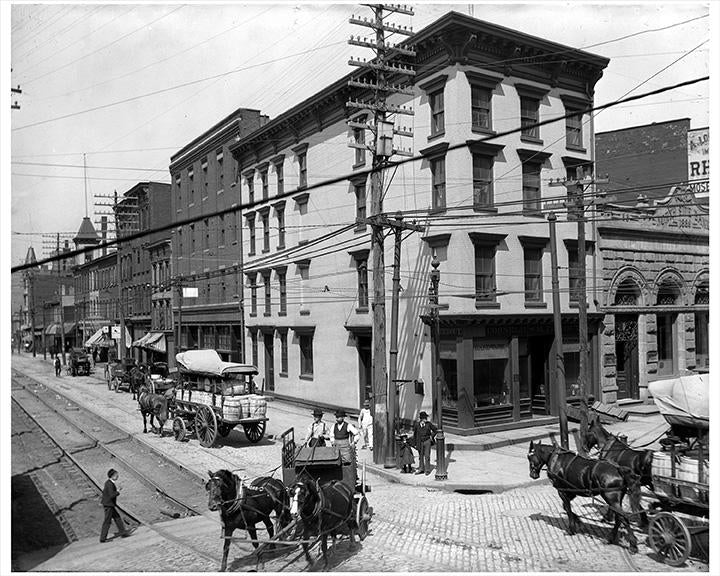 Old Vintage Photos and Pictures of Grand Street & Kent Avenue Williamsburg Brooklyn 1900