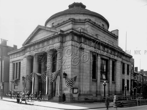 Green Point Savings Bank, southwest corner Calyer Street and Manhattan Avenue, 1927 Old Vintage Photos and Images