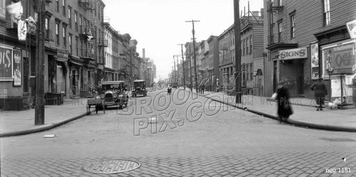 Green Street looking east from Manhattan Avenue, 1928 Old Vintage Photos and Images