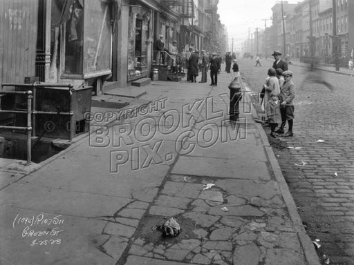Green Street near Manhattan Avenue, 1928 Old Vintage Photos and Images