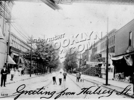 Halsey Street from Broadway, 1908 Old Vintage Photos and Images