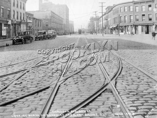 Hamilton Avenue from Van Brunt Street to Carroll Street, 1924 A Old Vintage Photos and Images