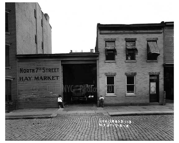 Hay Market - North 7th  Street  - Williamsburg - Brooklyn, NY 1918 C20 Old Vintage Photos and Images