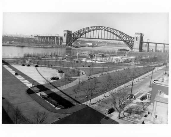 Hell Gate Bridge from from Triboro Bridge 1940s  -  Queens, NY Old Vintage Photos and Images