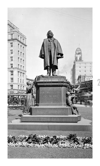 Henry Ward Beecher Statue Old Vintage Photos and Images