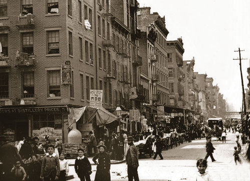 Hester St. looking west from Suffolk St. 1900 Old Vintage Photos and Images