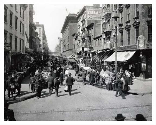 Hester Street looking west from Essex Street - 1900 Old Vintage Photos and Images