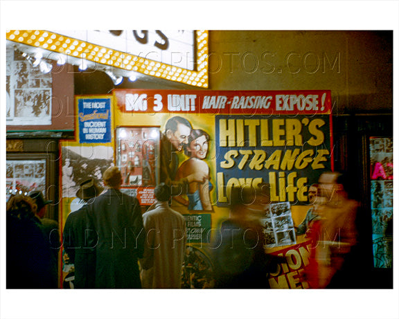 Hitlers Love Life West 42nd Street Times Square 1951 Old Vintage Photos and Images