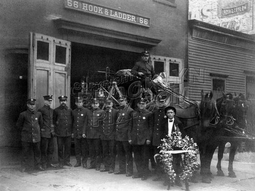 Hook & Ladder Company 56, c.1910 Old Vintage Photos and Images
