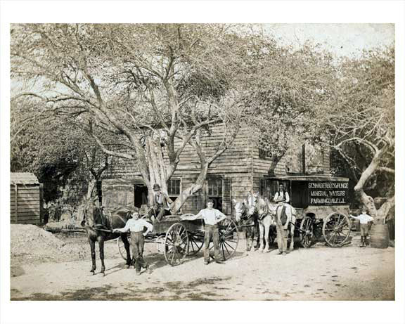 Horse Cart - Farmingdale Long Island, 1900 Old Vintage Photos and Images