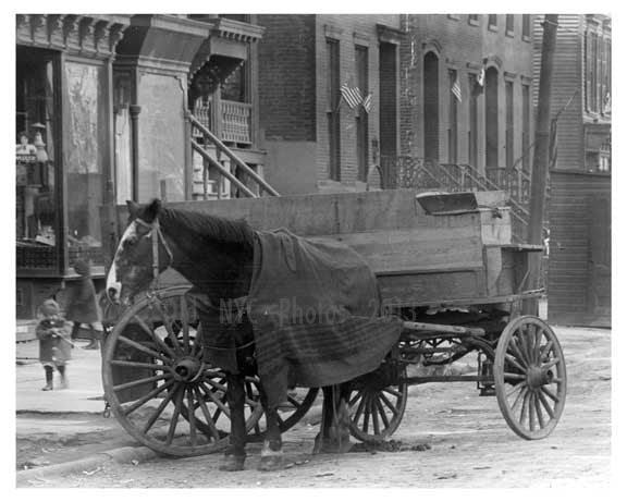Horse & Wagon on Manhattan Ave - Williamsburg - Brooklyn, NY  1918 Old Vintage Photos and Images