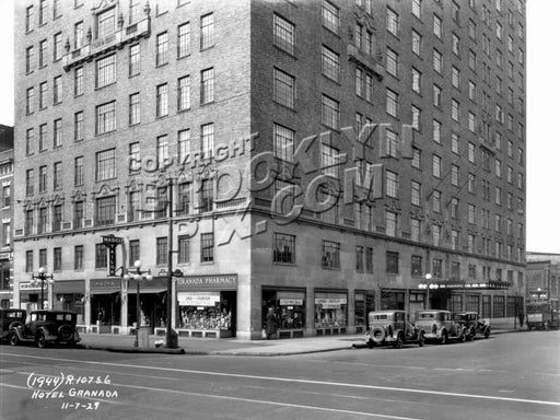 Hotel Granada, Lafayette and Ashland, 1929 Old Vintage Photos and Images