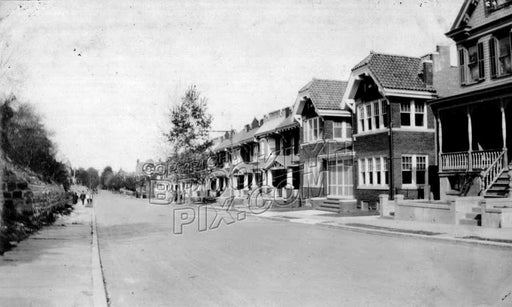 Houses along Sunnyside Avenue, 1922 Old Vintage Photos and Images