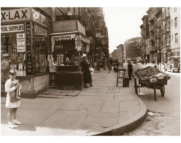 Houston Street, west from Mott Street, Italian Quarter - 1929 Old Vintage Photos and Images
