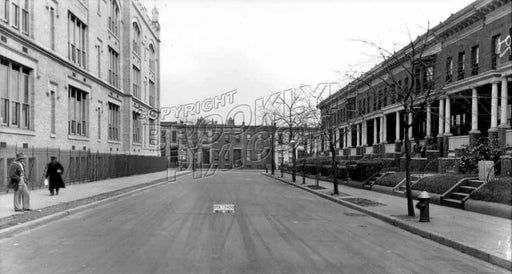 Howard Place between Windsor Place and Prospect Avenue showing Parochial School, 1928 Old Vintage Photos and Images