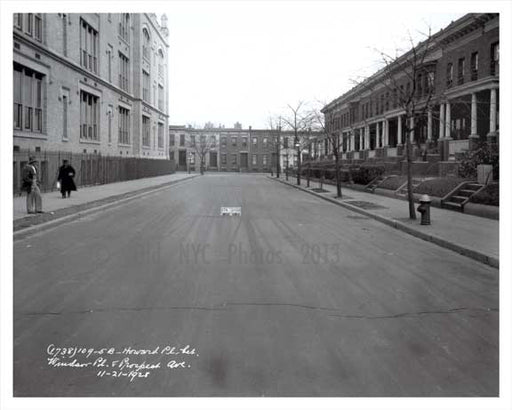 Howard Place between Windsor Place & Prospect Avenue 1928 Windsor Terrace Brooklyn NY Old Vintage Photos and Images