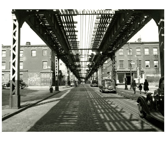 Hudson Ave looking north toward LaFayette 1939 Old Vintage Photos and Images