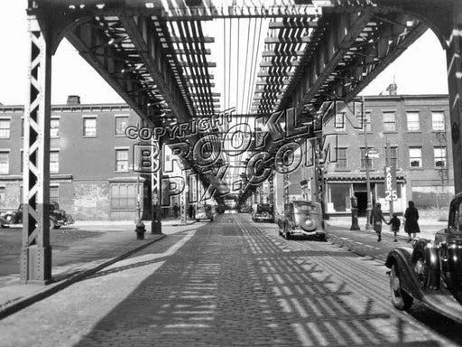 Hudson Avenue looking north toward Lafayette Street, 1939 Old Vintage Photos and Images