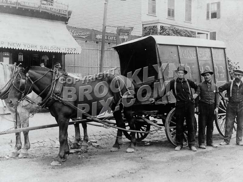 Ice Wagon on 60th Street near 12th Avenue, 1912 Old Vintage Photos and Images