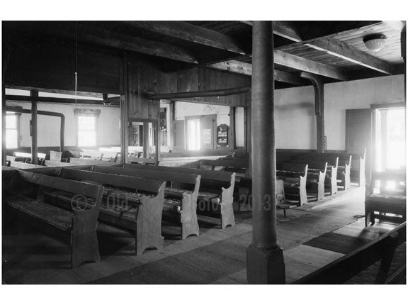 inside of the Society of Friends Meetinghouse, Northern Blvd. Flushing Queens NY Old Vintage Photos and Images