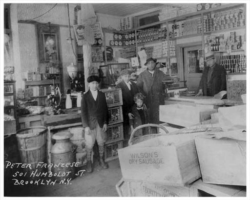 Inside the Franzese Grocery Store 501 Humbolt Greenpoint Brooklyn, NY 1930s Old Vintage Photos and Images
